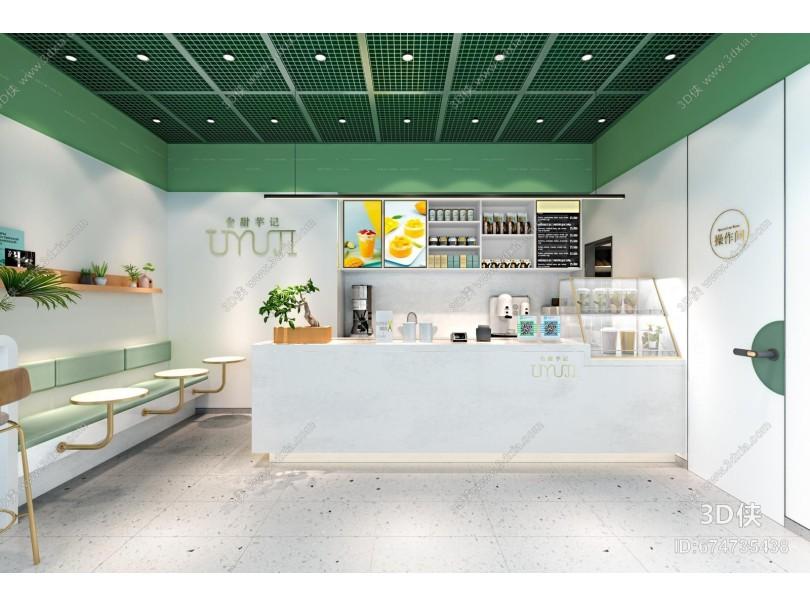 现代甜品店