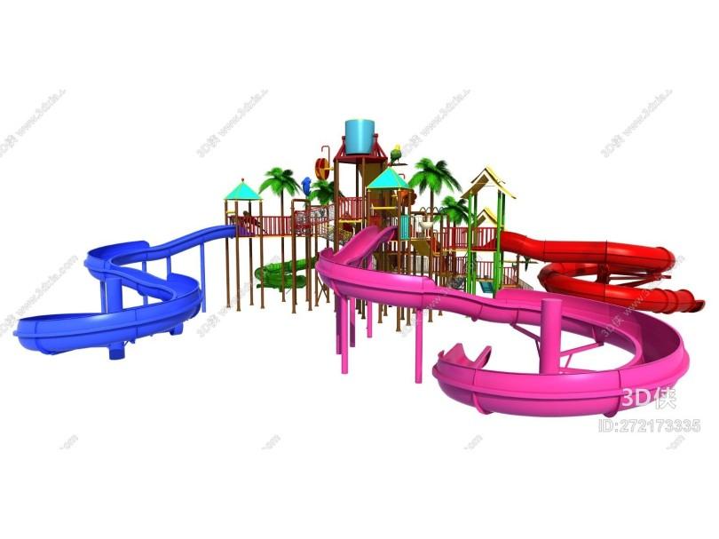 现代风格水上乐园滑梯 水上滑梯
