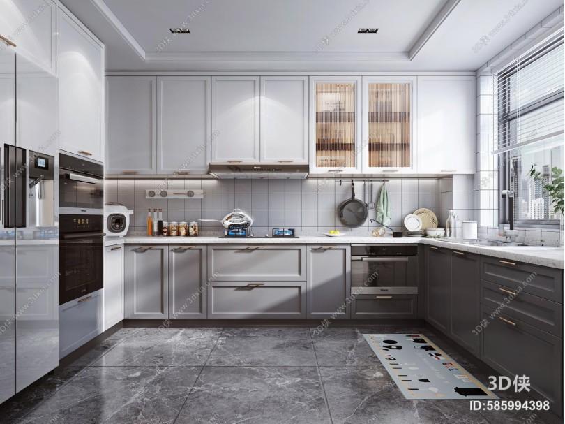 现代风格厨房 橱柜 电器