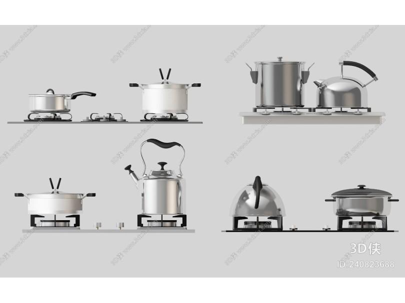现代厨房用具组合