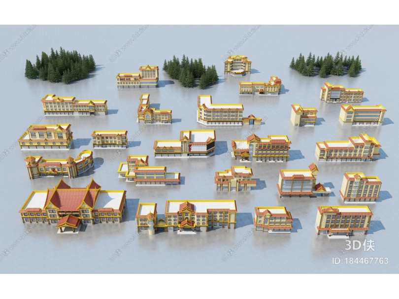 东南亚建筑外观