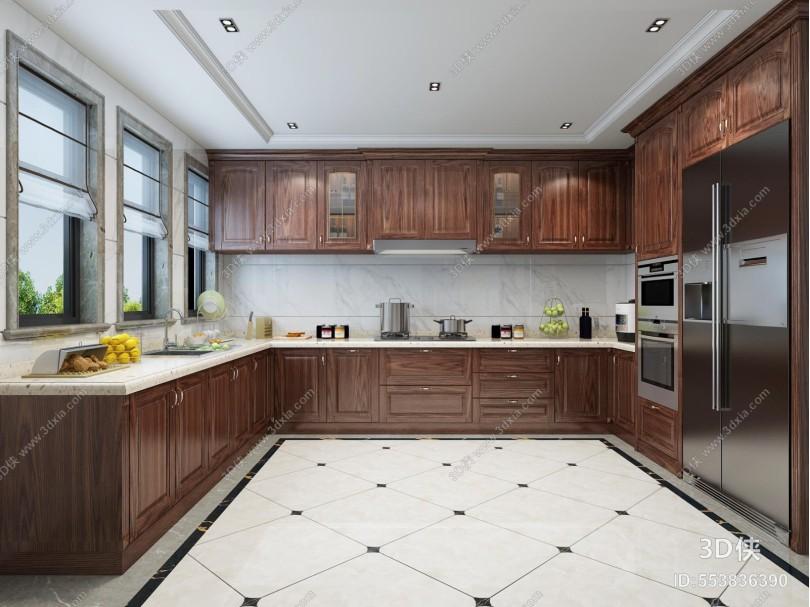 美式厨房 橱柜 厨具