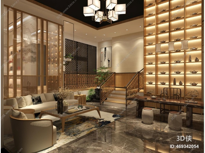 新中式茶室 沙发