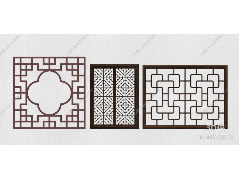 新中式装饰品 屏风 隔断