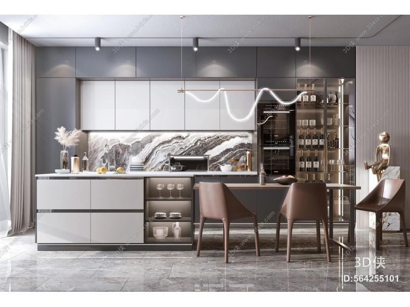 现代风格餐厅 厨房 橱柜
