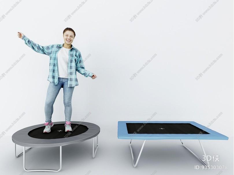 现代跳床组合