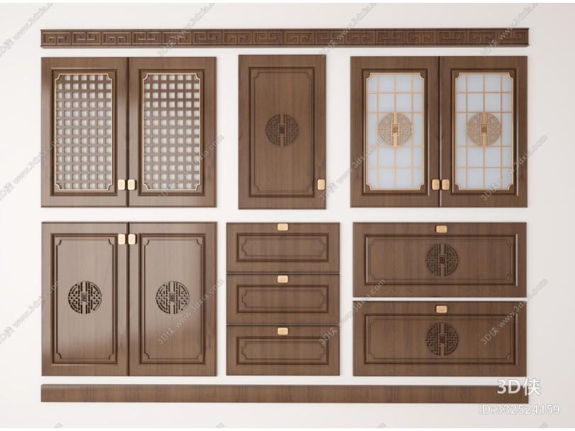 新中式橱柜门板