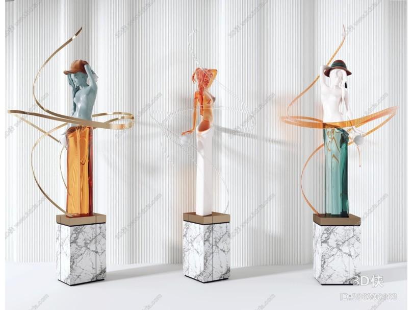 现代雕塑 陈设饰品