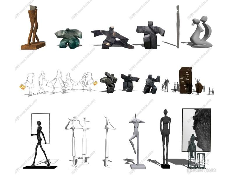 现代雕塑 人物 动物雕塑