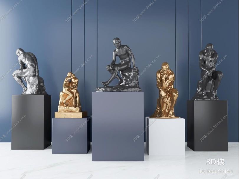 现代人物雕塑 摆件 艺术品