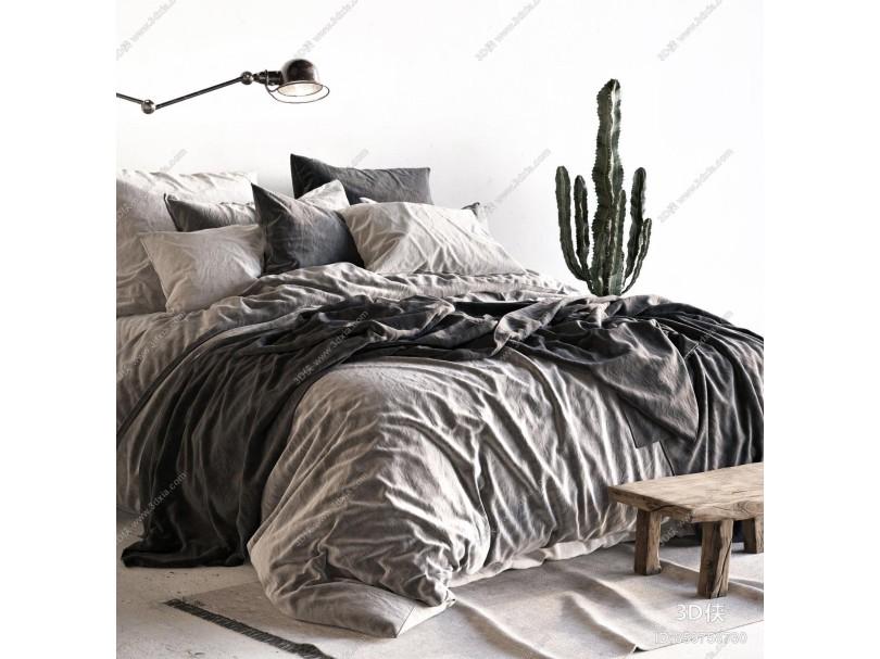 北欧风格双人床