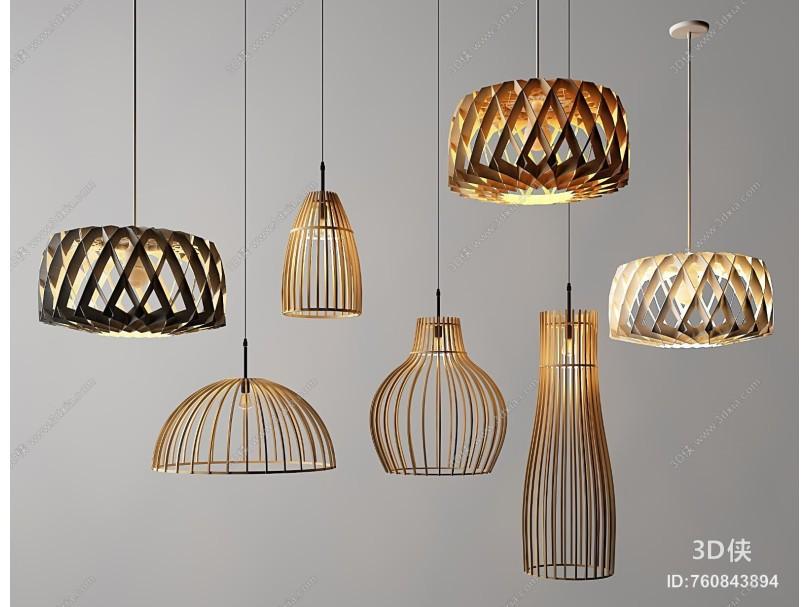 北欧吊灯 金属灯 玻璃灯艺术灯
