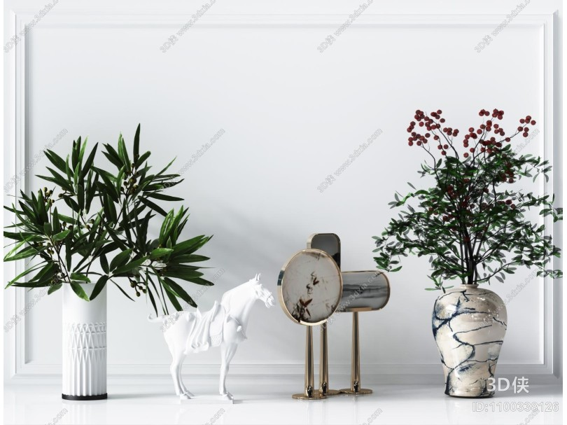 现代绿植盆栽 摆件