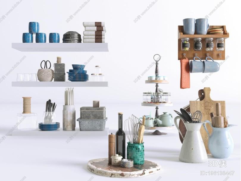 现代厨房用品组合 盘子 碟子