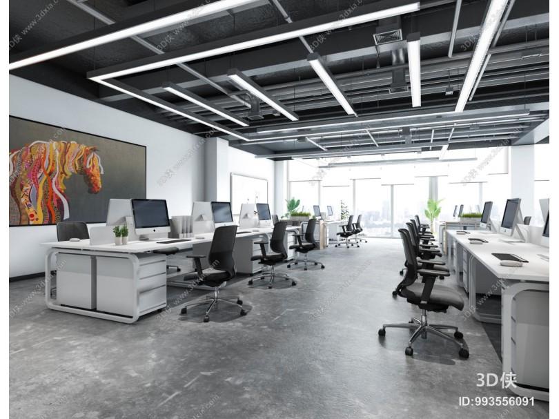 现代办公室 走廊 过道
