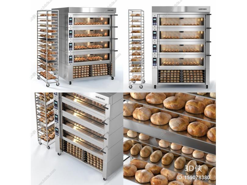 现代烤箱 面包