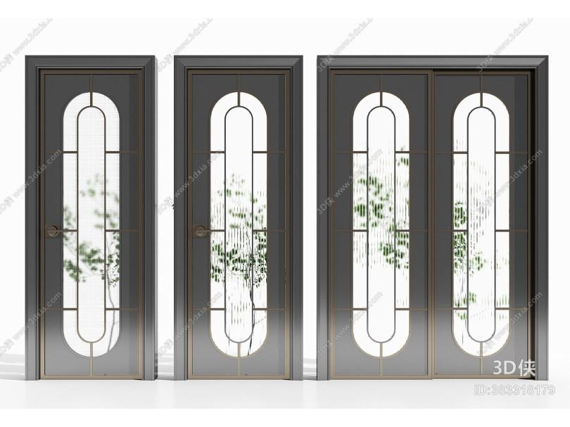 现代玻璃门 厨卫门 推拉门组合