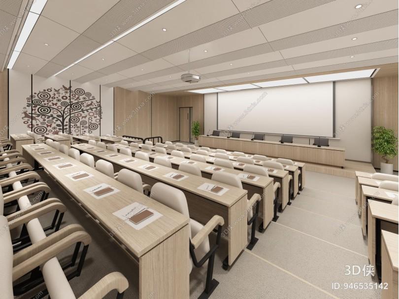 新中式图书馆报告厅