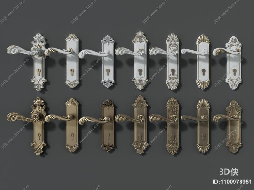 欧式古典门把手