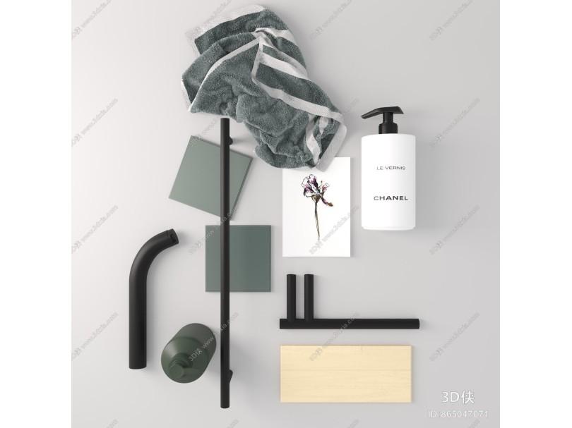 现代卫生间用品 毛巾 洗漱用品
