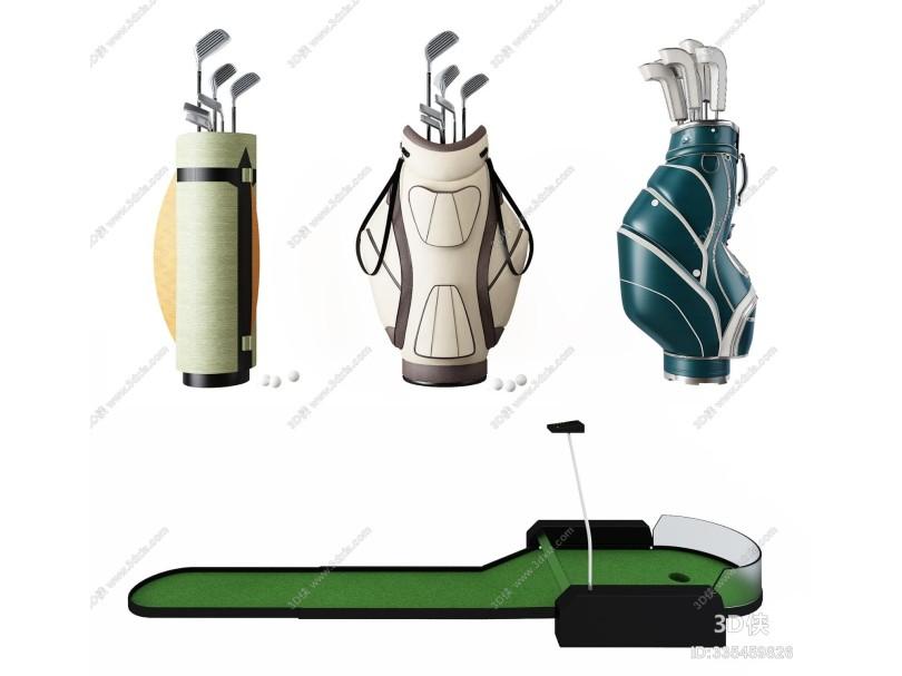 现代高尔夫球杆球袋