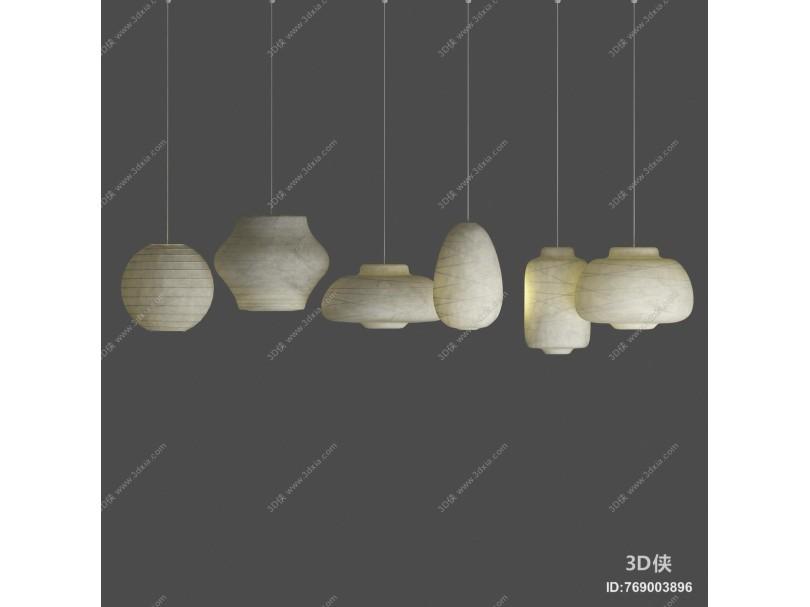 新中式纸艺吊灯
