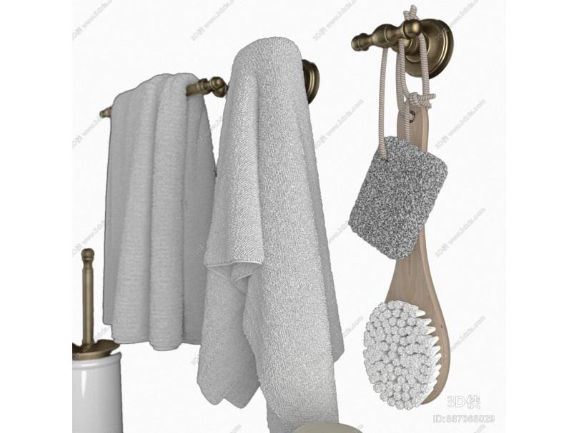 現代衛浴小件 毛巾 卷紙 牙刷