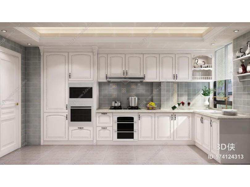 法式厨房 橱柜