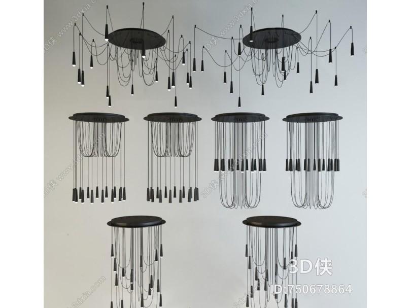 现代异形吊灯