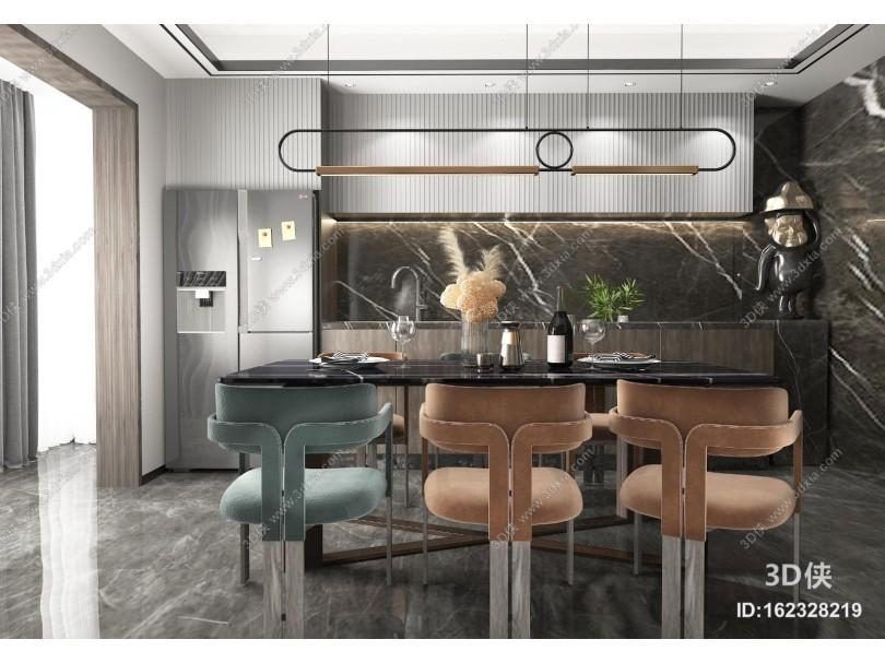 现代厨房橱柜组合