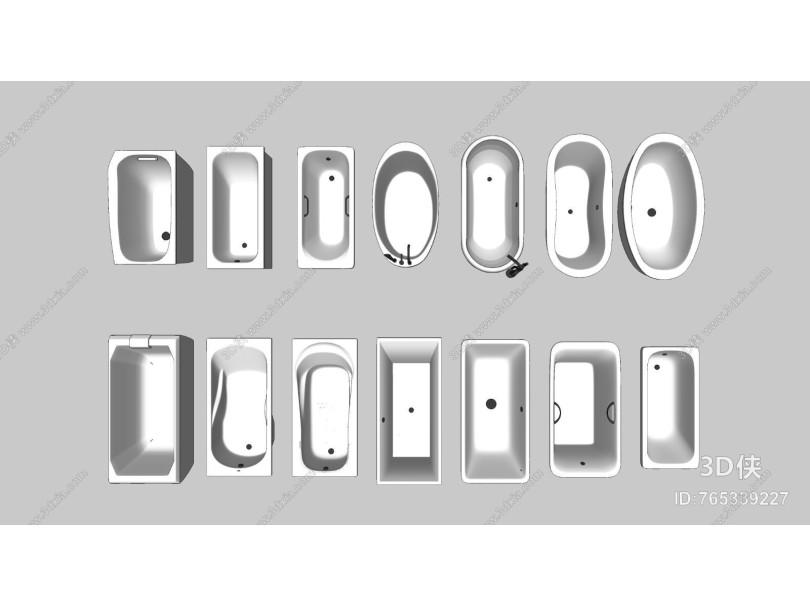 现代浴缸组合
