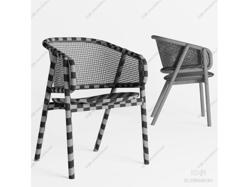 新中式实木单椅 餐椅