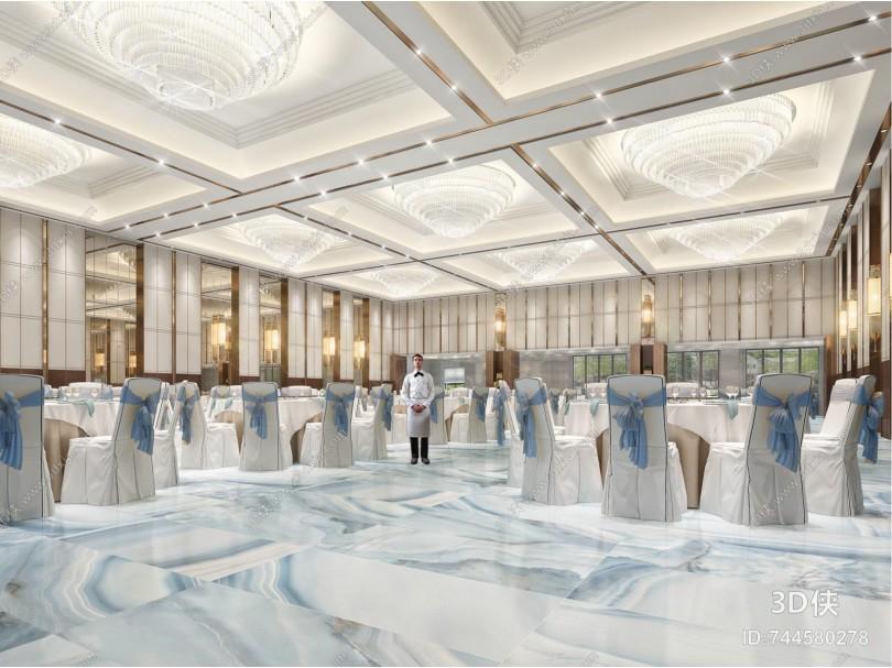 新中式酒店 宴会厅 婚宴厅