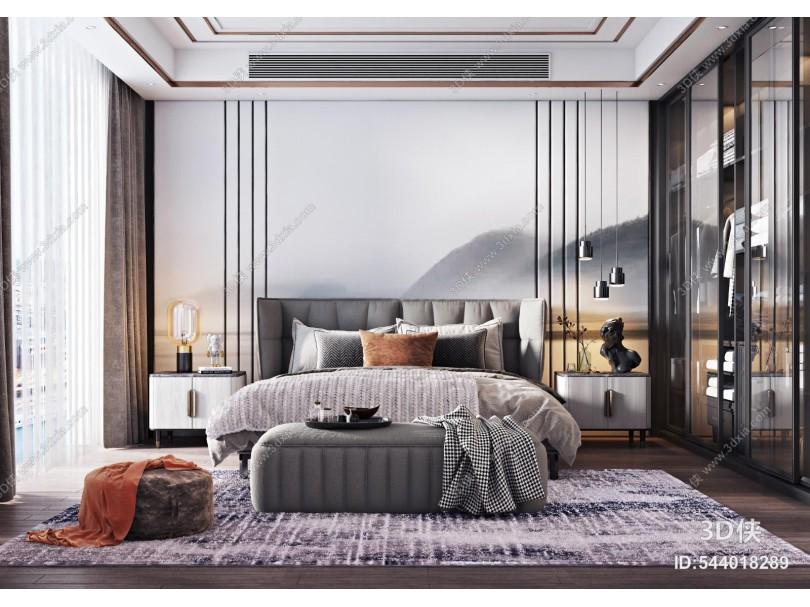 现代卧室主人房