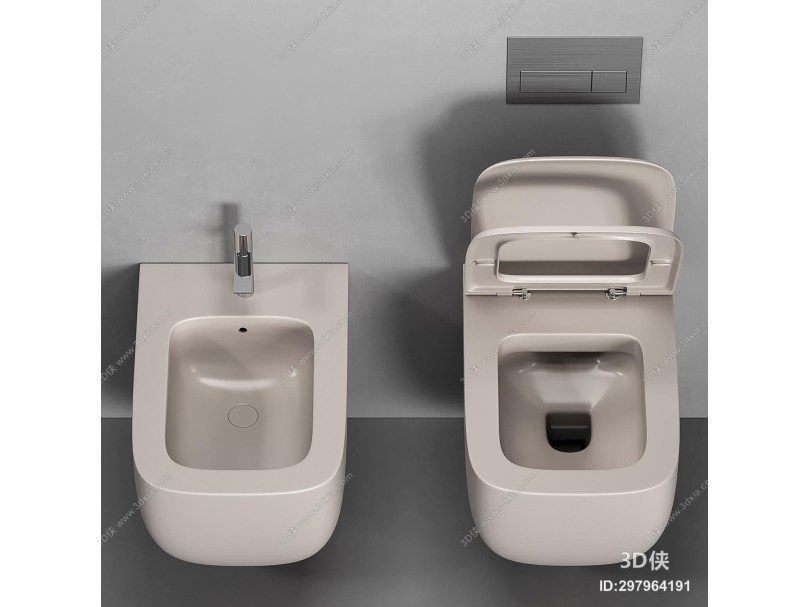 现代坐便器 马桶