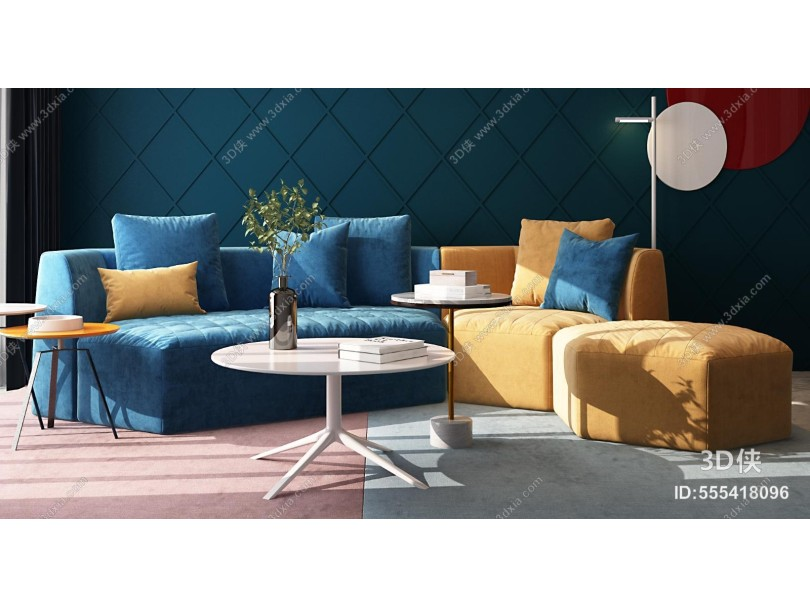 现代客厅 轻奢客厅 沙发组合