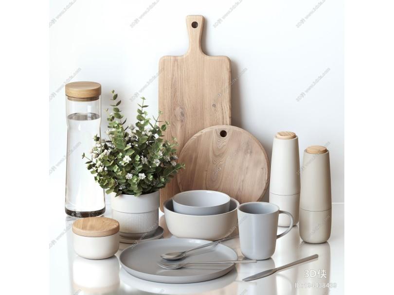 现代餐具 厨房用品组合