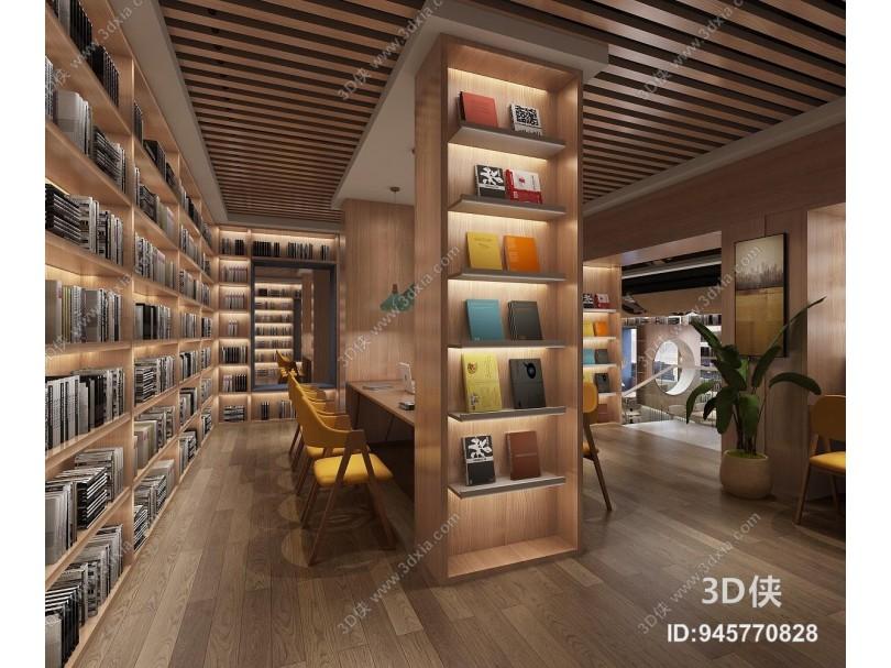 现代书吧 图书馆 书屋