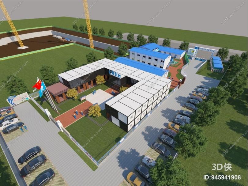 现代工地项目部 办公楼 宿舍