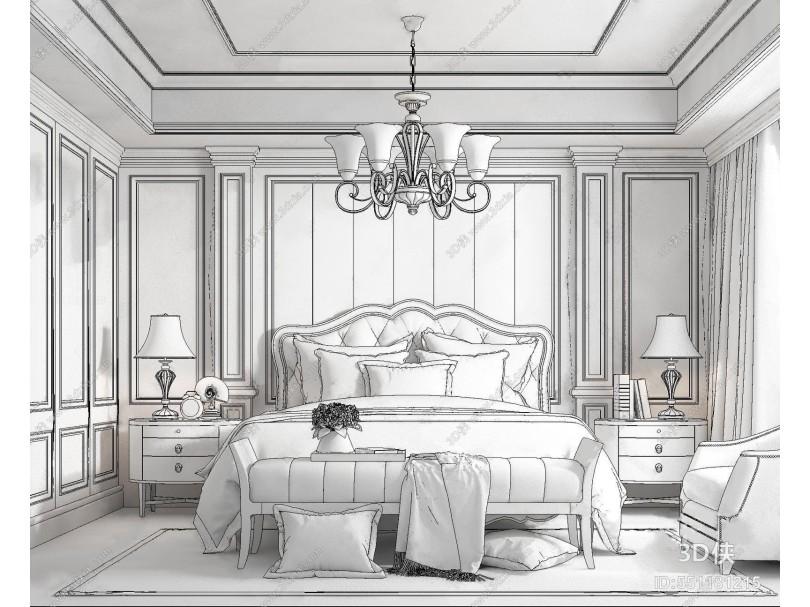 美式主卧室