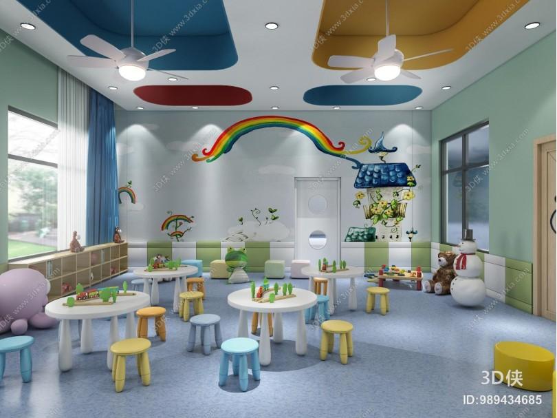 现代风格幼儿园教室