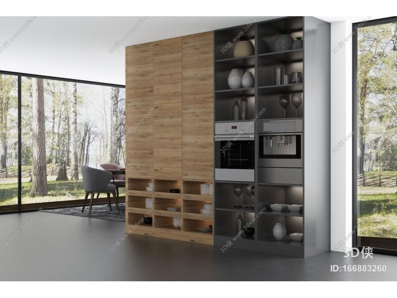 现代国外岛台橱柜 厨房