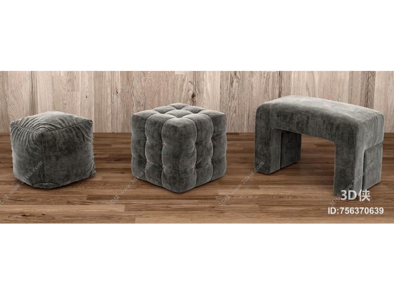 现代休闲沙发 单人懒人沙发 坐墩