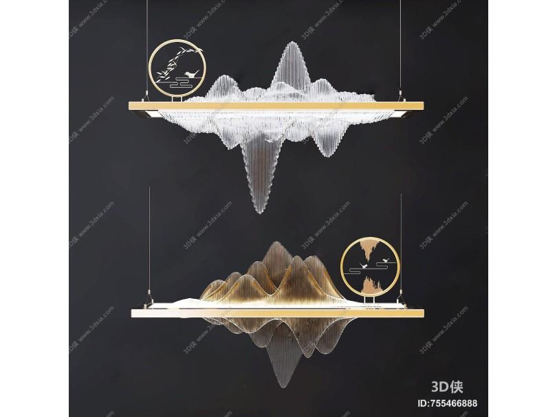 新中式吊灯 灯具