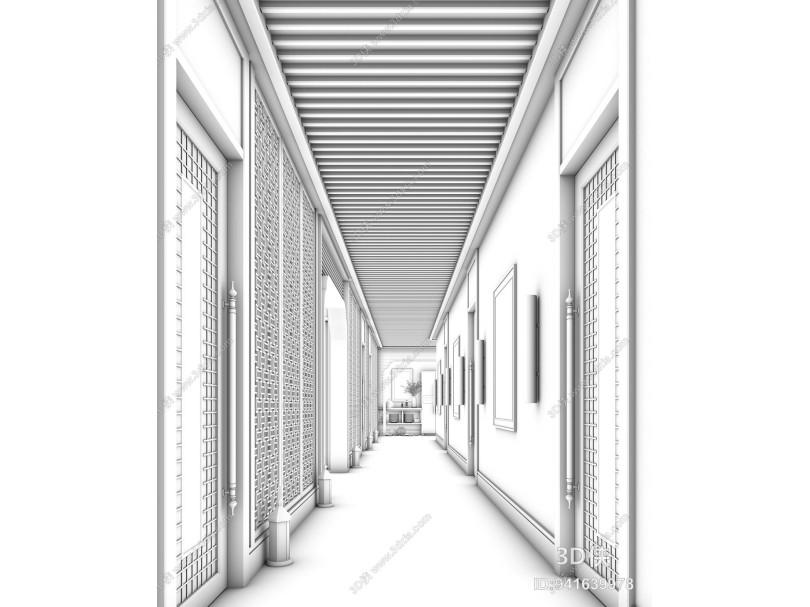 新中式走廊空间