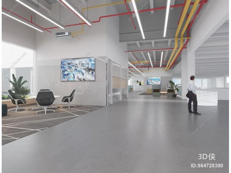 现代工业风办公区