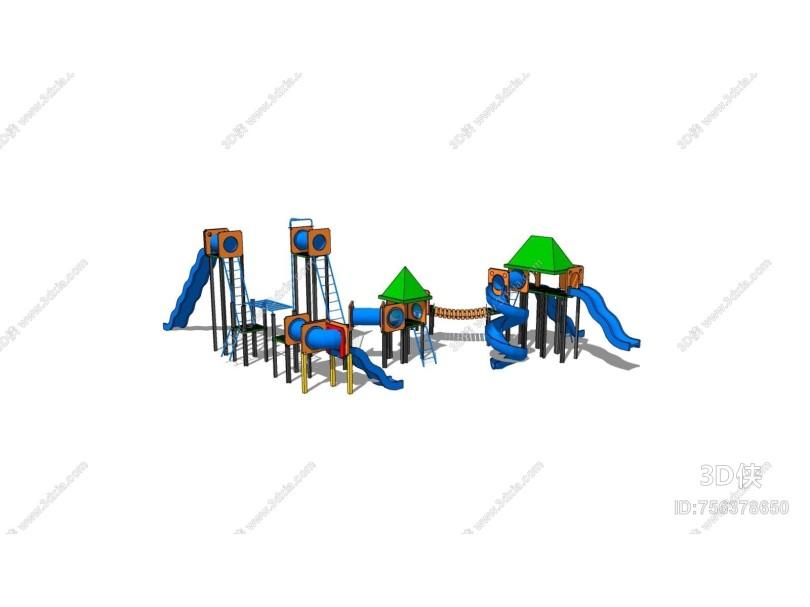 现代风格儿童器材组合