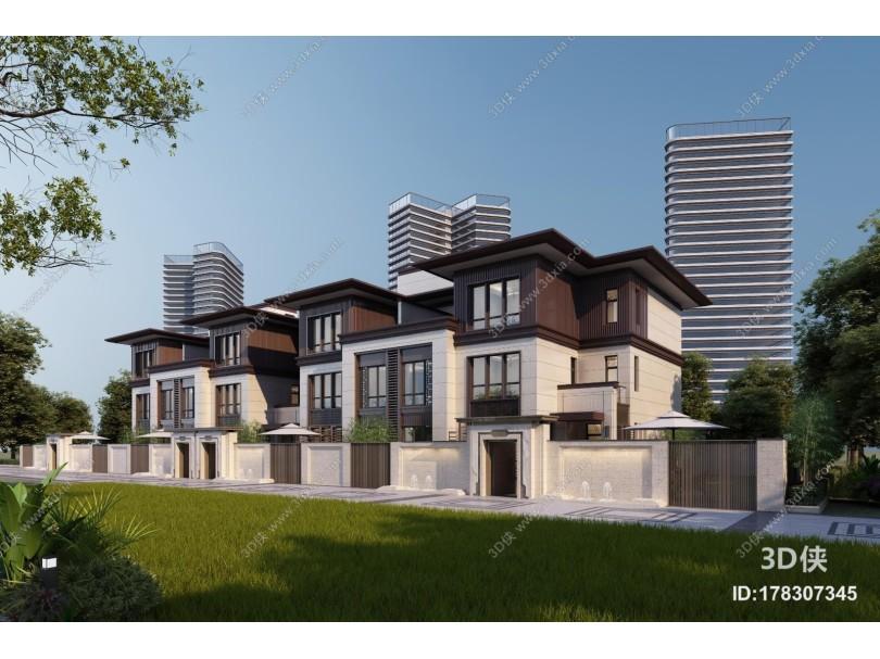 新中式别墅外观
