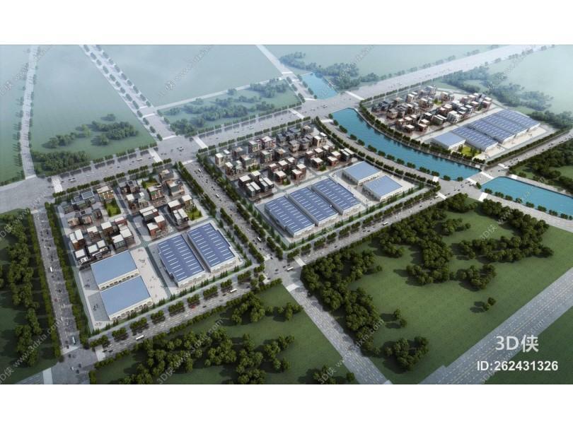 现代工业园 厂房厂区