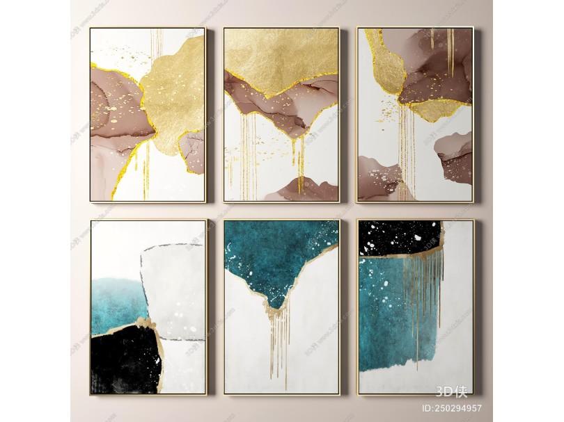 現代藝術抽象裝飾掛畫 抽象裝飾畫 輕奢掛畫